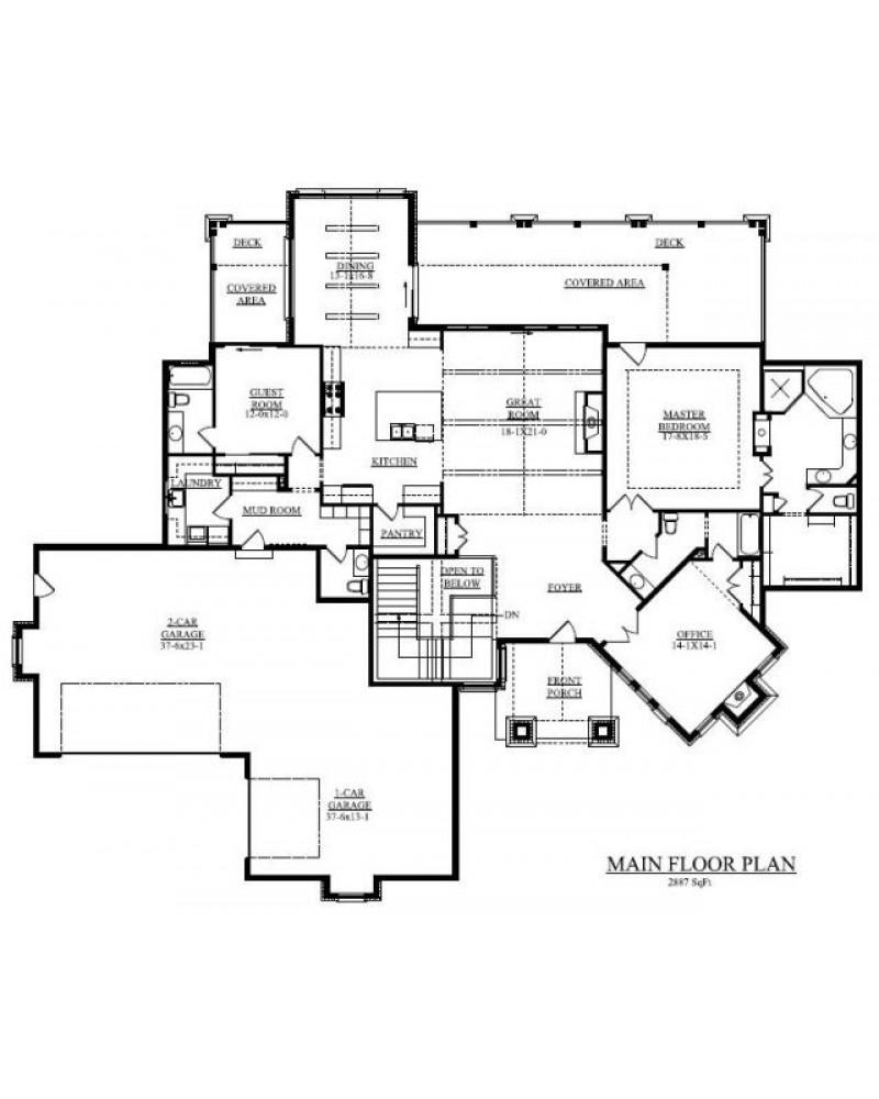 AmazingPlans.com House Plan #REN-1440 - Hillside