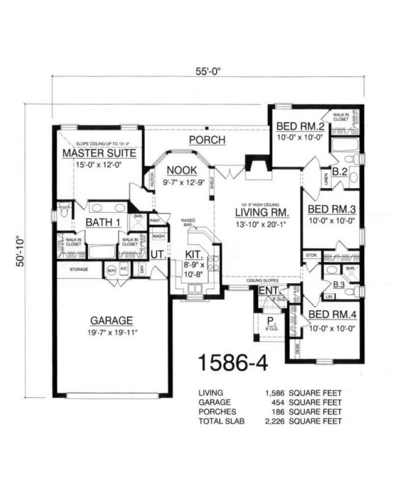House plan rkd 1586 4 traditional for Amazing plans com