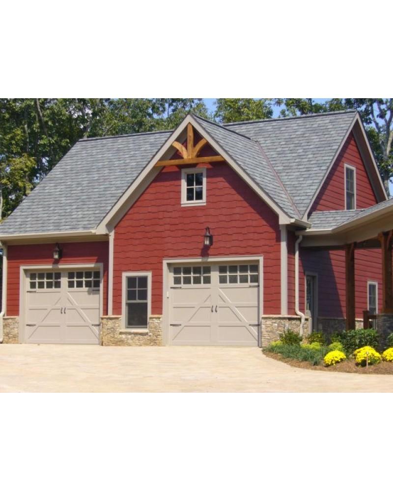 Garage plan rld casper garage country for Country garage