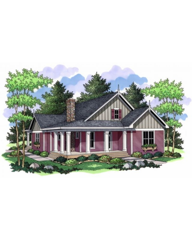 House plan ro 1808 country farmhouse for Farmhouse ranch house plans