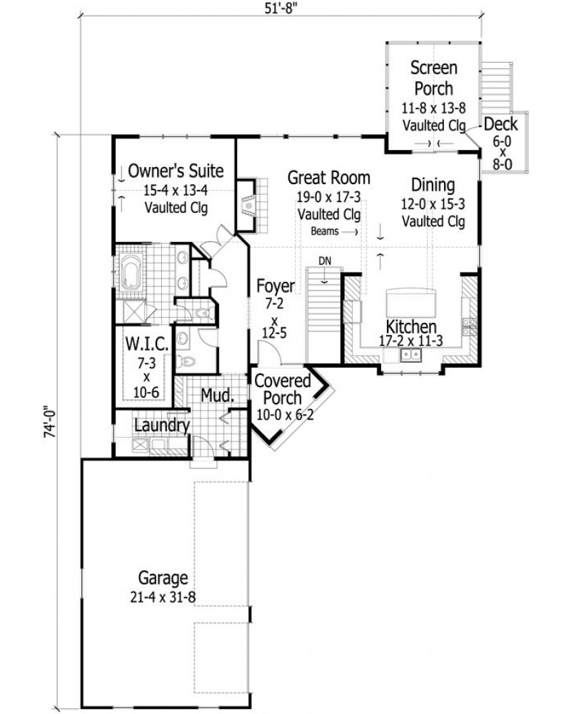House plan ro 2931 country european for European house plans for narrow lots