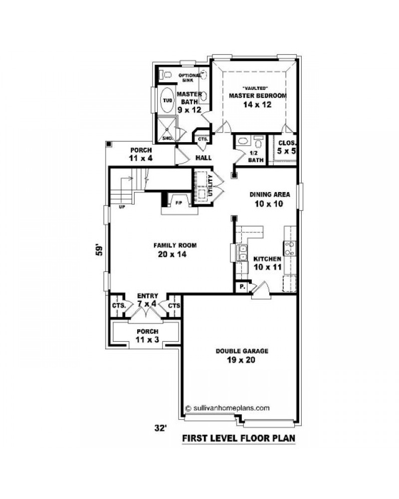House plan sul 1164 541 512 fc country for 512 plan