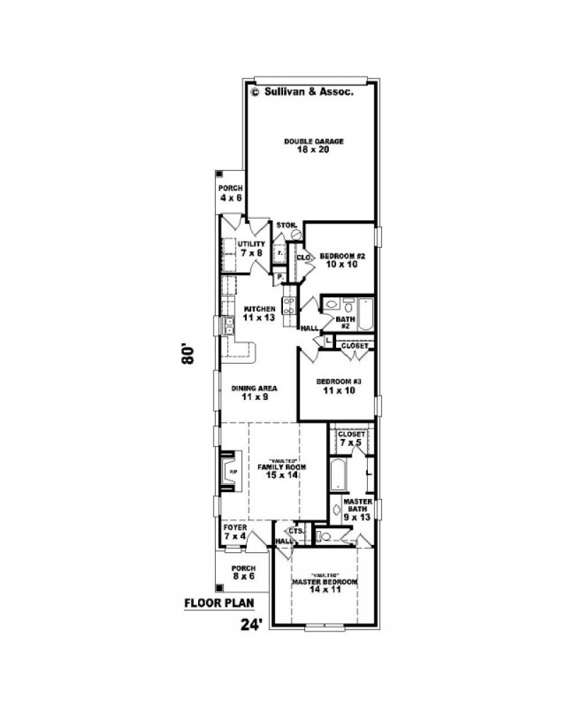House plan sul 1328 501 t traditional for 501 plan