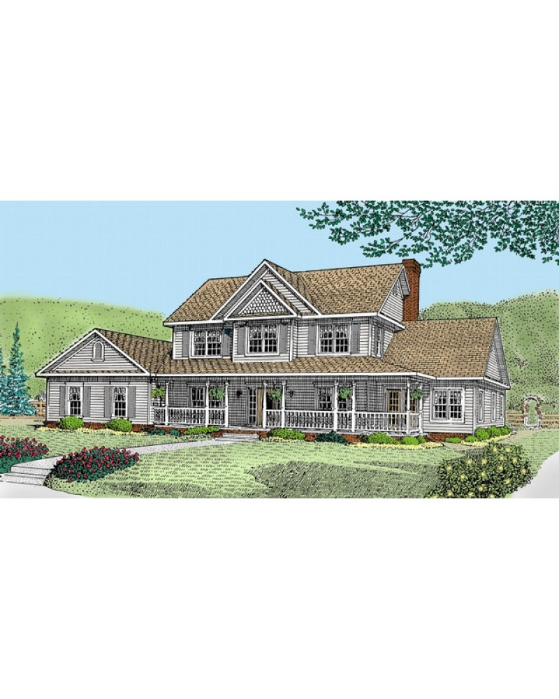 House plan ud e151 country farmhouse for Amazing plans com