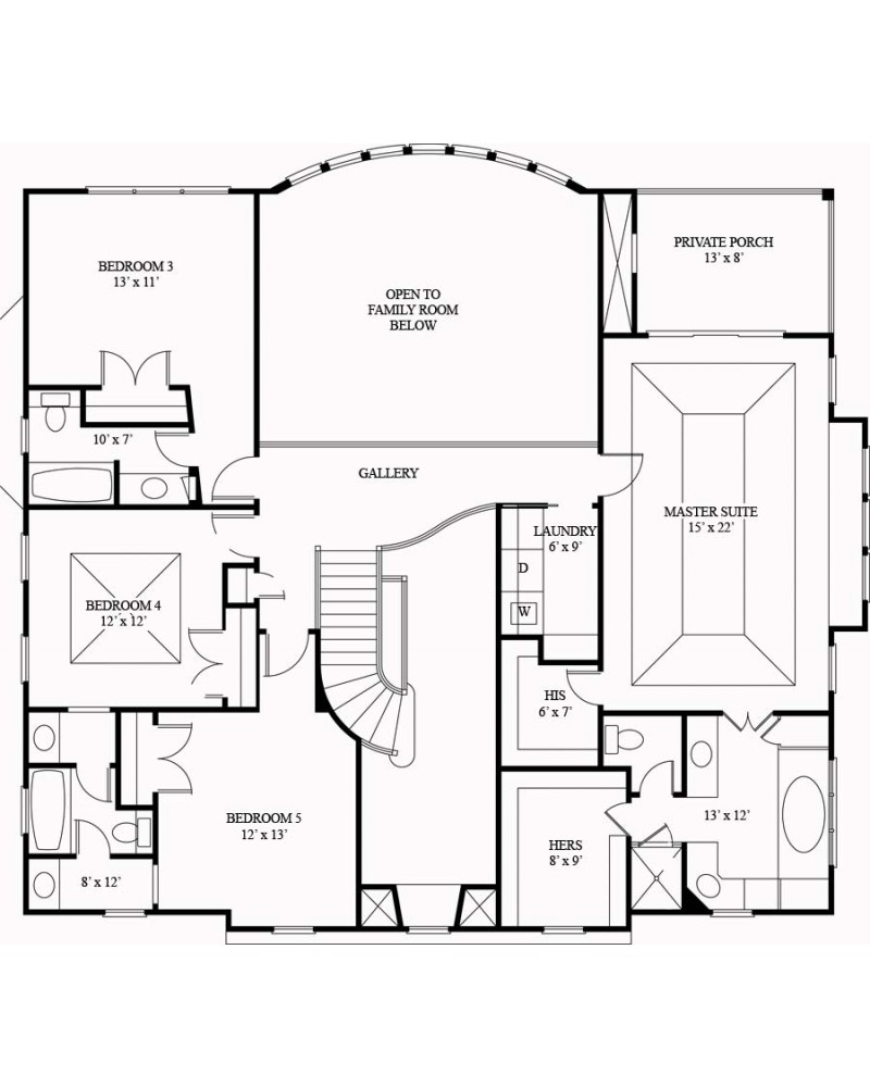 House plan arc villa royale for Blueprint house plans