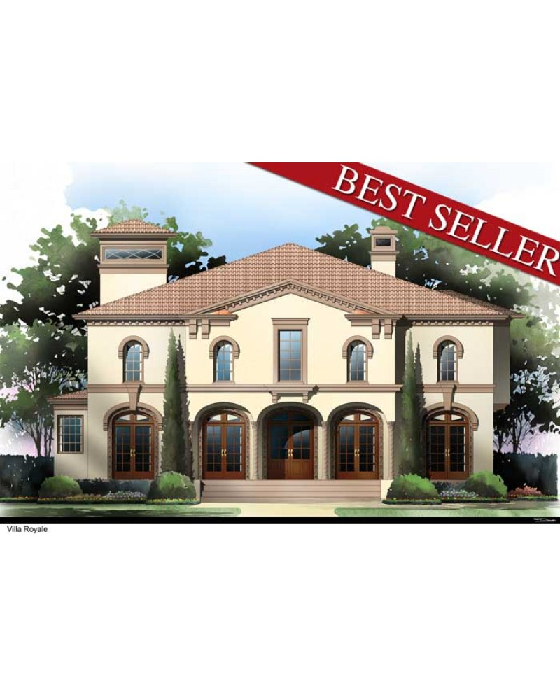 House plan arc villa royale for Villa royale