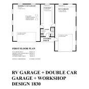 RS1830 RV Garage Workshop & Bsth