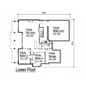 LOWER FLOOR PLAN *undeveloped