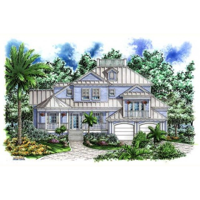 Beach and coastal house plans for Coastal beach house plans