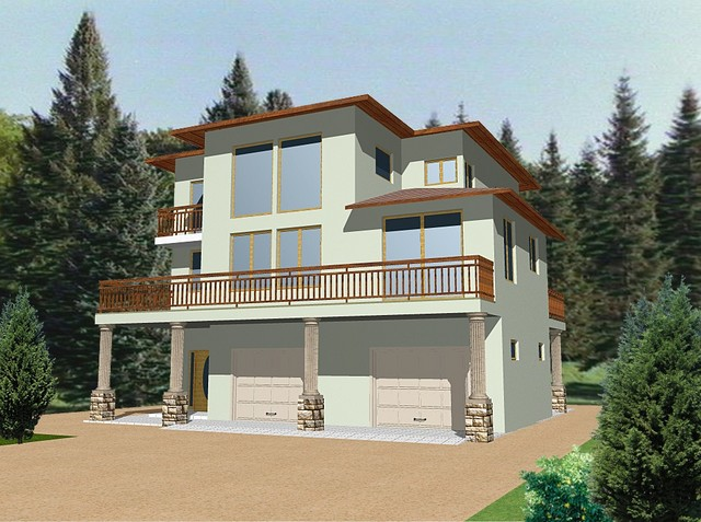 Modern house plans for Modern upstair house designs